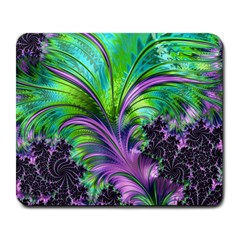Fractal Art Artwork Feather Swirl Large Mousepads