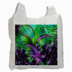 Fractal Art Artwork Feather Swirl Recycle Bag (one Side) by Pakrebo