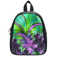 Fractal Art Artwork Feather Swirl School Bag (small)