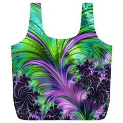 Fractal Art Artwork Feather Swirl Full Print Recycle Bag (xl)