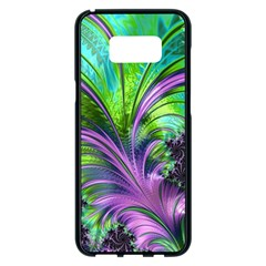 Fractal Art Artwork Feather Swirl Samsung Galaxy S8 Plus Black Seamless Case by Pakrebo