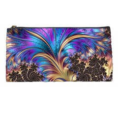 Fractal Feather Swirl Purple Blue Pencil Cases