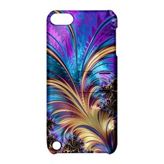 Fractal Feather Swirl Purple Blue Apple Ipod Touch 5 Hardshell Case With Stand