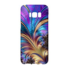 Fractal Feather Swirl Purple Blue Samsung Galaxy S8 Hardshell Case
