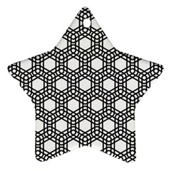 Geometric Floral Curved Shape Motif Star Ornament (two Sides)