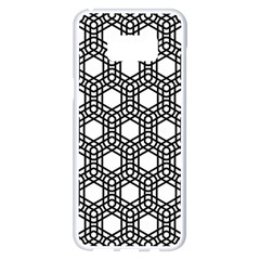 Geometric Floral Curved Shape Motif Samsung Galaxy S8 Plus White Seamless Case