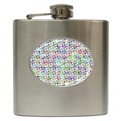 Geometric Floral Shape Geometrical Hip Flask (6 Oz) by Pakrebo
