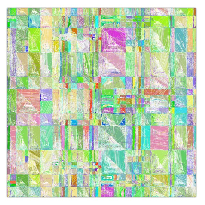 Pastel Quilt Background Texture Large Satin Scarf (Square)