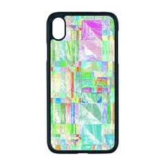 Pastel Quilt Background Texture Apple Iphone Xr Seamless Case (black)