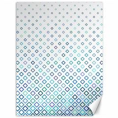 Square Pattern Geometric Blue Canvas 36  X 48