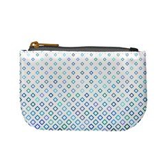 Square Pattern Geometric Blue Mini Coin Purse