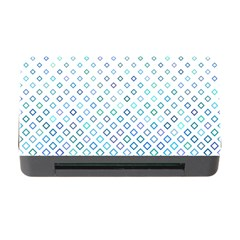 Square Pattern Geometric Blue Memory Card Reader With Cf