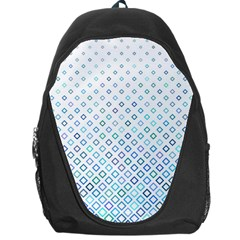 Square Pattern Geometric Blue Backpack Bag by Pakrebo