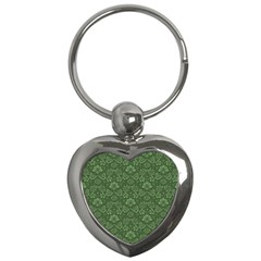 Damask Pattern Victorian Vintage Key Chains (heart)