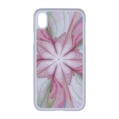 Pink Blue Flower Blossom Rose Apple Iphone Xr Seamless Case (white)