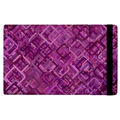 Purple Pattern Background Apple Ipad Pro 12 9   Flip Case