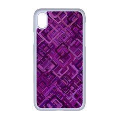 Purple Pattern Background Apple Iphone Xr Seamless Case (white)