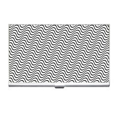Wave Wave Lines Diagonal Seamless Business Card Holder
