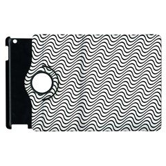 Wave Wave Lines Diagonal Seamless Apple Ipad 3/4 Flip 360 Case