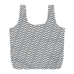 Wave Wave Lines Diagonal Seamless Full Print Recycle Bag (l)