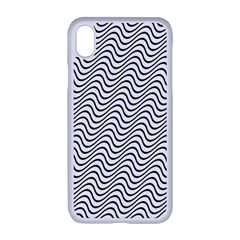 Wave Wave Lines Diagonal Seamless Apple Iphone Xr Seamless Case (white)