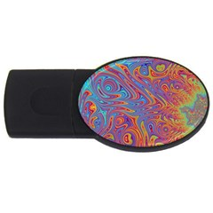 Fractal Psychedelic Fantasy Surreal Usb Flash Drive Oval (4 Gb)
