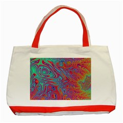 Fractal Bright Fantasy Design Classic Tote Bag (red)
