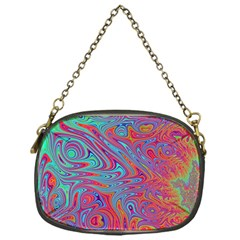 Fractal Bright Fantasy Design Chain Purse (one Side)