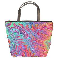 Fractal Bright Fantasy Design Bucket Bag