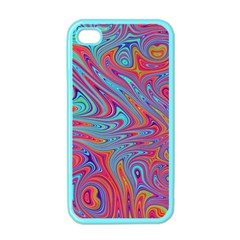 Fractal Bright Fantasy Design Apple Iphone 4 Case (color) by Pakrebo