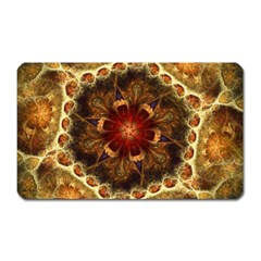Dawn Day Fractal Sunny Gold Red Magnet (rectangular)