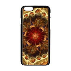 Dawn Day Fractal Sunny Gold Red Apple Iphone 6/6s Black Enamel Case