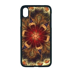 Dawn Day Fractal Sunny Gold Red Apple Iphone Xr Seamless Case (black)