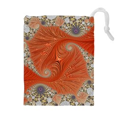 Fractal Art Artwork Pattern Fractal Drawstring Pouch (xl)