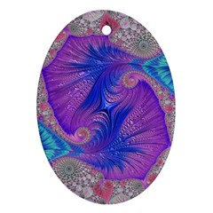 Fractal Artwork Art Design Ornament (oval)