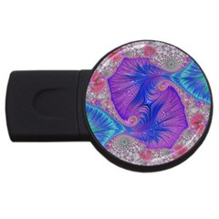 Fractal Artwork Art Design Usb Flash Drive Round (2 Gb)