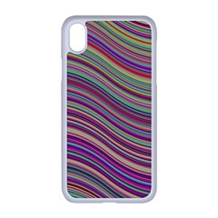 Wave Abstract Happy Background Apple Iphone Xr Seamless Case (white)