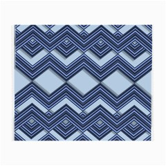 Textile Texture Fabric Zigzag Blue Small Glasses Cloth (2 Side)