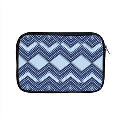 Textile Texture Fabric Zigzag Blue Apple Macbook Pro 15  Zipper Case by Pakrebo