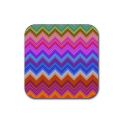 Pattern Chevron Zigzag Background Rubber Coaster (square)