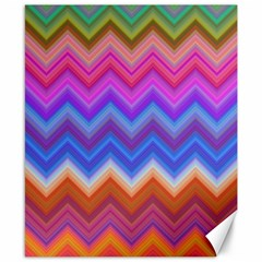 Pattern Chevron Zigzag Background Canvas 8  X 10