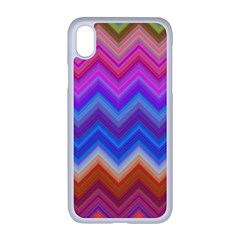 Pattern Chevron Zigzag Background Apple Iphone Xr Seamless Case (white)