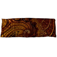 Copper Caramel Swirls Abstract Art Body Pillow Case (dakimakura) by Pakrebo