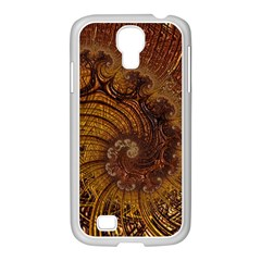 Copper Caramel Swirls Abstract Art Samsung Galaxy S4 I9500/ I9505 Case (white)