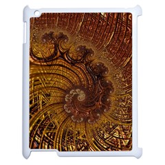 Copper Caramel Swirls Abstract Art Apple Ipad 2 Case (white)