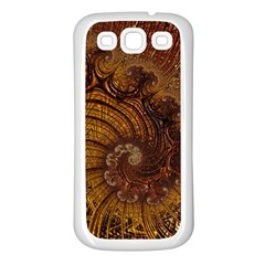 Copper Caramel Swirls Abstract Art Samsung Galaxy S3 Back Case (white)
