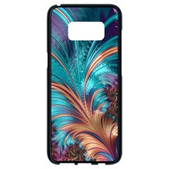 Feather Fractal Artistic Design Samsung Galaxy S8 Black Seamless Case by Pakrebo