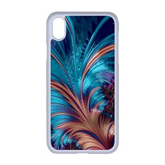 Feather Fractal Artistic Design Apple Iphone Xr Seamless Case (white)