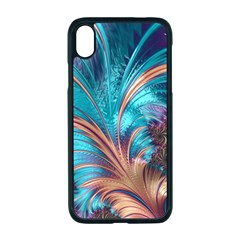 Feather Fractal Artistic Design Apple Iphone Xr Seamless Case (black)