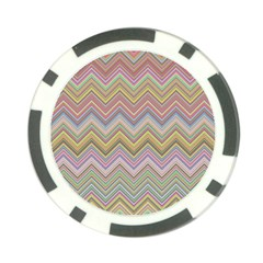 Chevron Colorful Background Vintage Poker Chip Card Guard